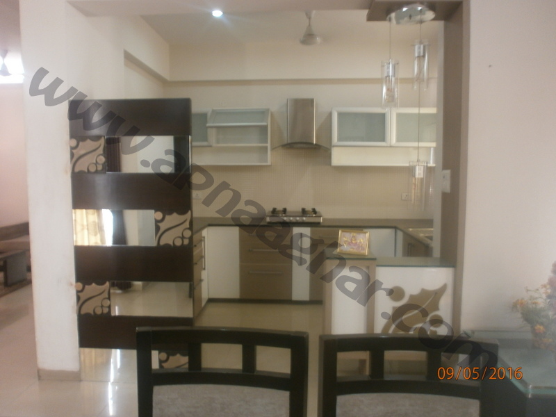 3 BHK well furnished  flat on 8th Floor of G+12 | VIP Road | Zirakpur | Punjab | Apnaaghar