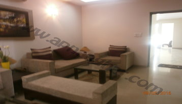 3 BHK well furnished  flat on 1st Floor of G+12 | VIP Road | Zirakpur | Punjab | Apnaaghar
