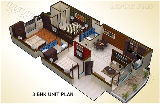 1510 sq ft 3 BHK Independent FF of G+2 | Zirakpur Patiala Highway | Zirakpur | Punjab | Apnaa Ghar