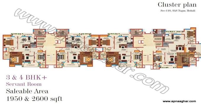 4BHK 2600 sq ft  |Flat|Kharar | Mohali | Chandigarh| Punjab | Zirakpur| Apnaaghar.com | 9781191177